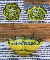 mexican-ceramics-dinnerware-table-decor-majolica-gorky-workshop-flower-salad-bowl-green-contemporary