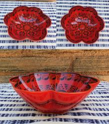 mexican-ceramics-dinnerware-table-decor-majolica-gorky-workshop-flower-salad-bowl-red-contemporary
