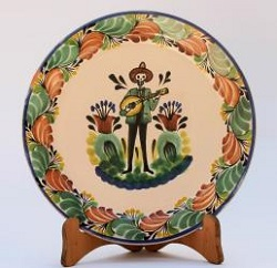 mexican-decorative-plate-catrina-motives-halloween-day-of-dead-ceramic-hand-made-mexico-catrin-guitar