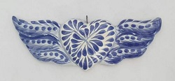 mexican-ornament-wings-heart-hand-crafts-pottery-hand-made-mexico-decorative-christmas-nativity-talavera-majolica-blue
