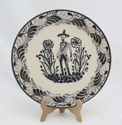 mexican-plates-ceramic-pottery-catrin-motive-folk-art-hand-crafts-hand-made-mexico-for-sale-amazon