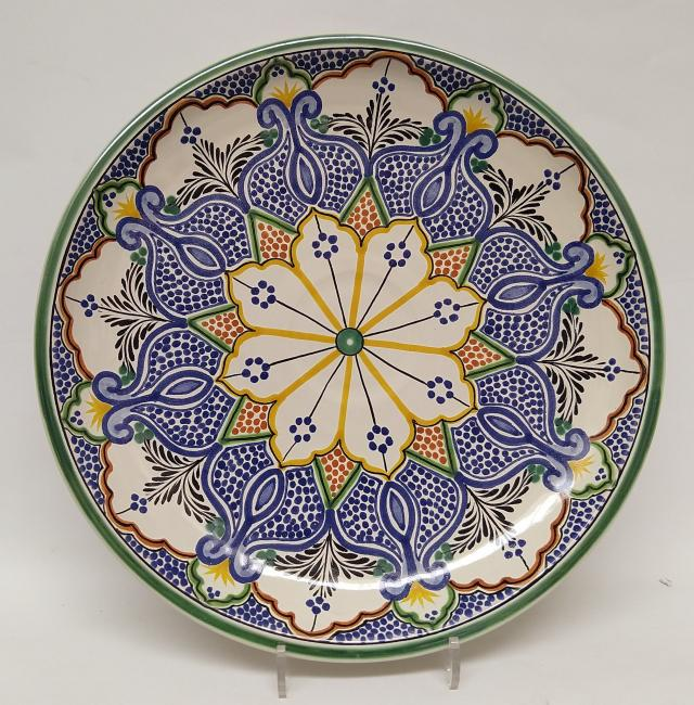 mexican ceramic mexican potttery folk art talavera Gorky Gonzalez Decorative Platter<br>Pomegranate<br>MultiColors